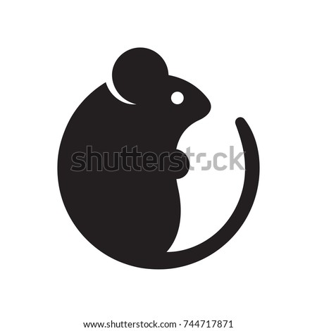 simple cartoon mouse logo