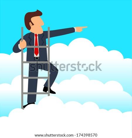 simple cartoon of a businessman