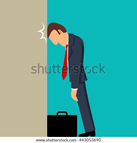simple cartoon of businessman