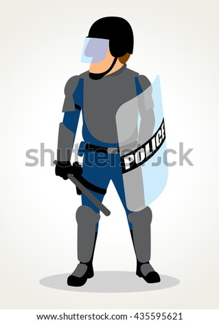 simple cartoon of police