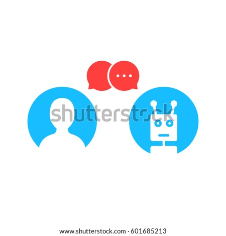 simple chatbot hotline logo. concept of avatar, internet helper, smart conversation, notification, popup, secretary aid, messaging. flat style trend modern logotype graphic design on white background