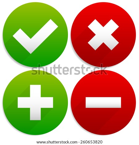 simple checkmark  cross and