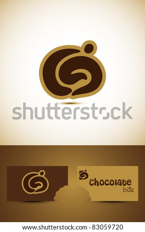 Simple chocolate or coffee icon such logo, Vector EPS10.