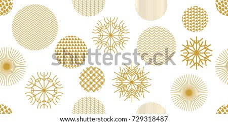 stock-vector-simple-christmas-seamless-pattern-with-geometric-motifs-snowflakes-and-circles-with-different