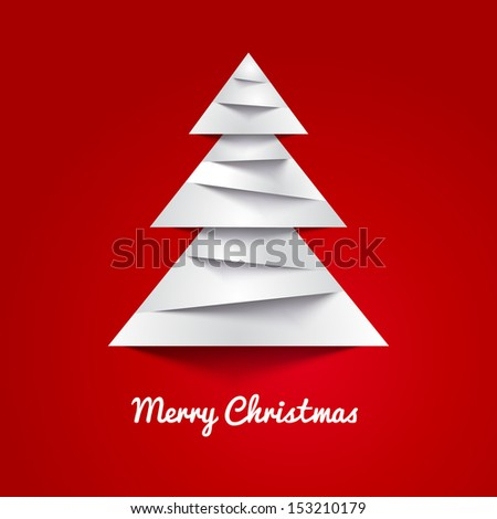 Simple christmas vector illustration with short wish