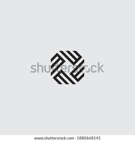 Simple Circular decorational M vector logo design.  Stok fotoğraf ©