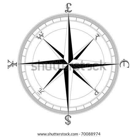 Simple Clean Currency Compass