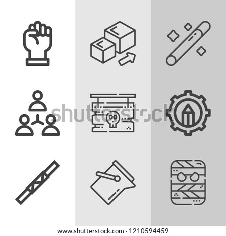 Simple collection of concept related outline icons.  about  signs for infographic, logo, app development and website design.  premium symbols isolated on a stylish background. #1210594459