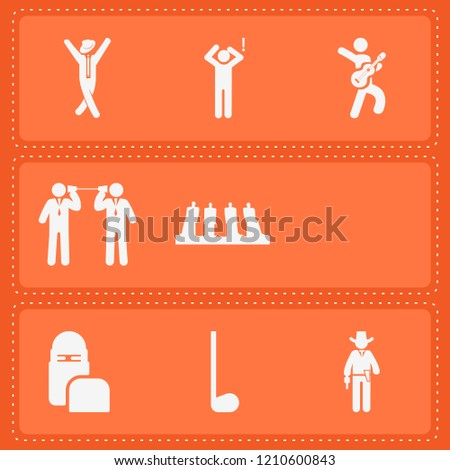 Simple collection of person related filled icons  about  signs for infographic, logo, app development and website design.  premium symbols isolated on a stylish background.
