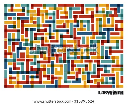 simple colored geometric maze