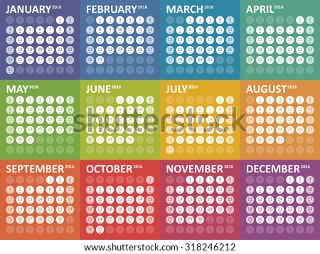 simple colorful calendar for