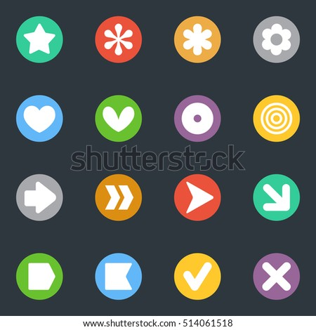 simple common vector stickers
