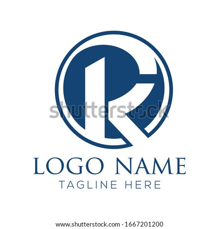 Simple creative initial letter KR or RK modern linked circle logodesign template suitable for company logo, print, digital, icon, apps, and other marketing material purpose Stock fotó ©
