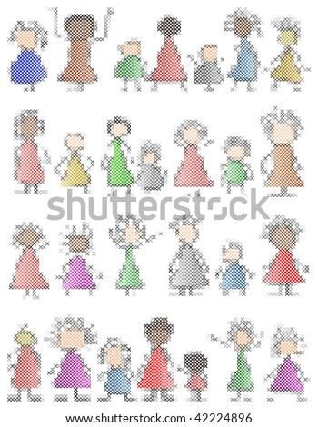 crossstitch children