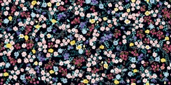Simple cute pattern in small-scale flowers. Millefleurs. Liberty style. Floral seamless meadow background for textile or book covers, manufacturing, wallpapers, print, gift wrap and scrapbooking.
