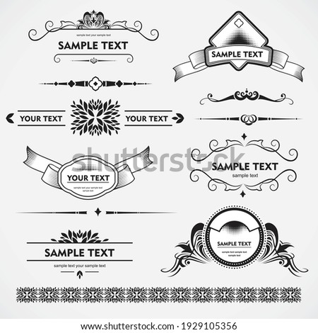 simple decorative ornaments and simple borders