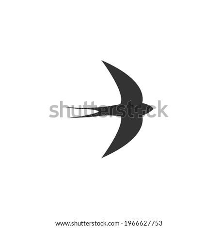Simple Design of Swift Bird logo icon template vector