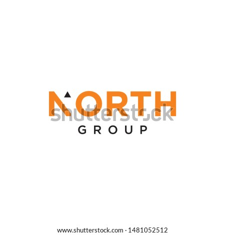SImple design, simple wordmark that represent the north - vector.
