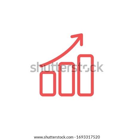 simple diagram and graphs icon design