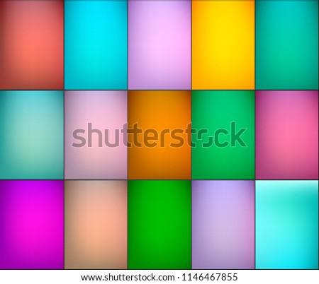 Simple different colors, gradient backgrounds set. Ideal forb brochure & flyer cover design.