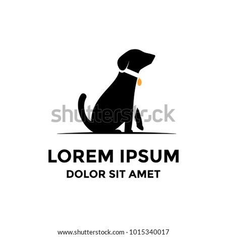 Simple Dog Logo Foto stock ©