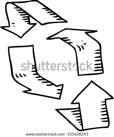 simple drawing of arrow