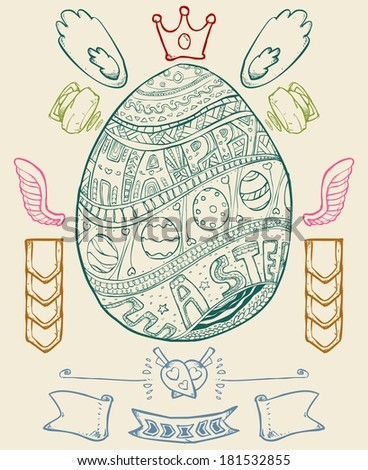 Simple Easter egg decoration