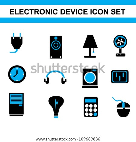 simple electronic device icon set
