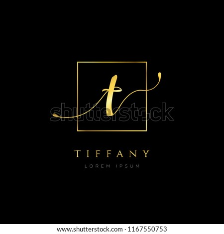 Simple Elegance Initial Letter T Logo Type Sign Symbol Icon