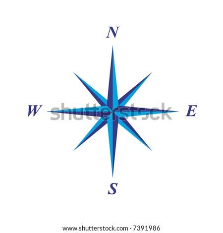 simple elegant compass rose illustration