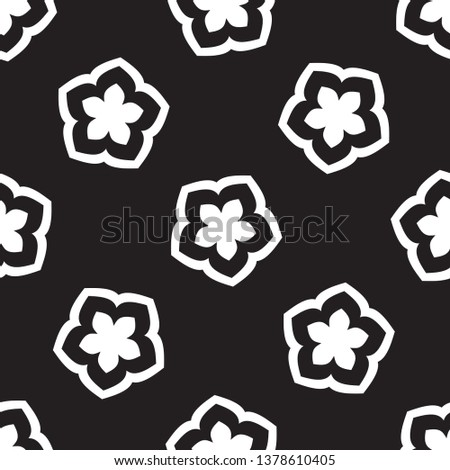 simple elegant five petals star