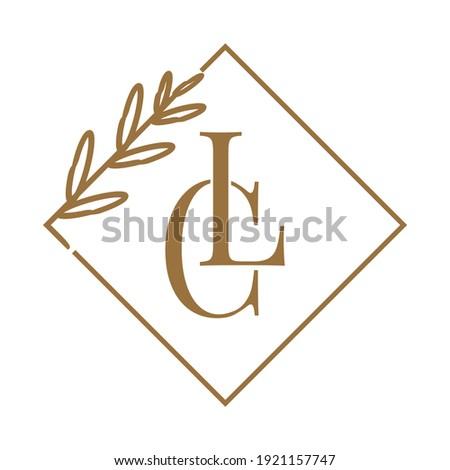 Simple Elegant Initial Letter Type CL Logo Sign Symbol Icon, Logo Design Template Photo stock ©