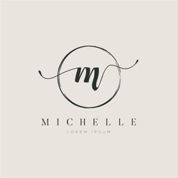 Simple Elegant Initial Letter Type M Logo Sign Symbol Icon