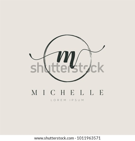 Simple Elegant Initial Letter Type M Logo Sign Symbol Icon