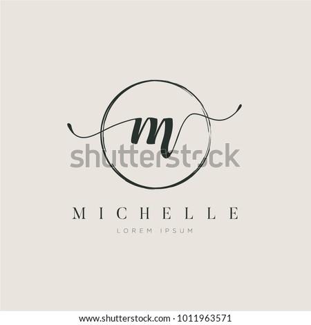 simple elegant initial letter
