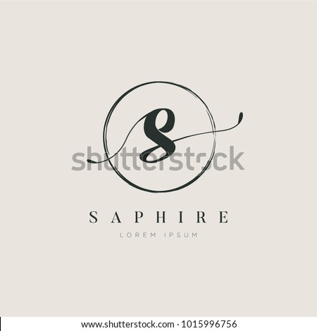 Simple Elegant Letter Type S Logo Sign Symbol Icon