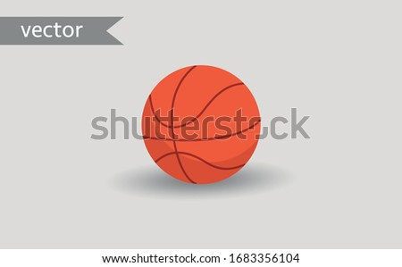Simple element illustration from basketball, Basketball ball sign icon symbol design, Basketball ball icon, Flat vector illustration basketball ball