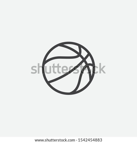 Simple element illustration from basketball in linear style, Basketball ball sign icon symbol design, Basketball ball icon, Flat vector illustration basketball ball