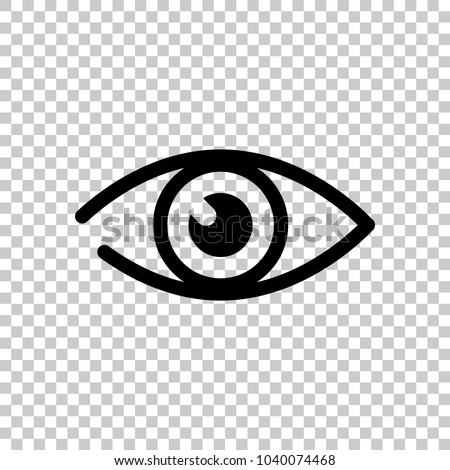 simple eye icon. On transparent background.