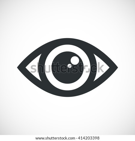 simple eye icon vector round