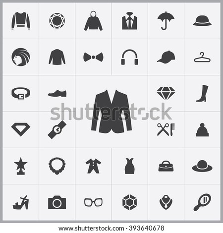 Simple fashion icons set. Universal fashion icons to use for web and mobile UI, set of basic fashion elements