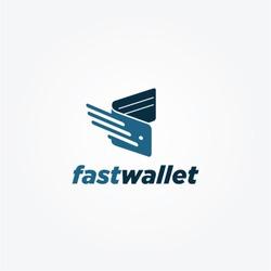 Simple Fast Wallet Logo Symbol Icon