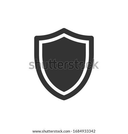 Simple filled heater shield icon Photo stock ©