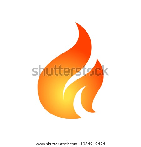 Simple fire vector design template. Can be used for logo, emblem or icon. #1034919424