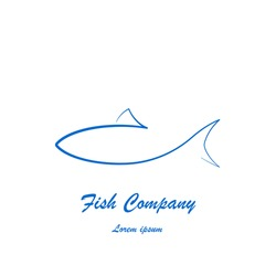 Simple fish logo design for company or restaurant
