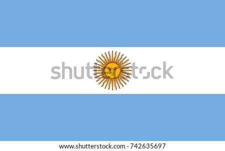 simple flag of argentina