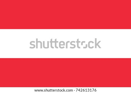 simple flag of austria