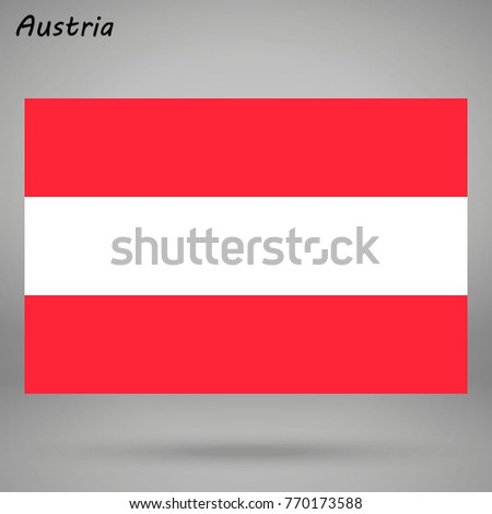 simple flag of austria isolated
