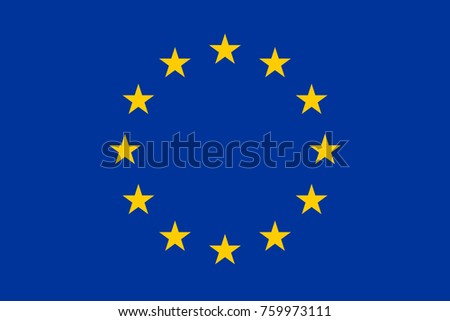 Simple flag of European Union. Correct size, proportion, colors.