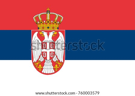 simple flag of serbia correct